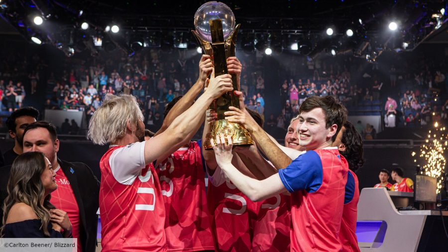 Team USA celebrating at the Overwatch World Cup