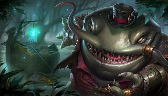 Tahm Kench, an amphibious champion from League of Legends