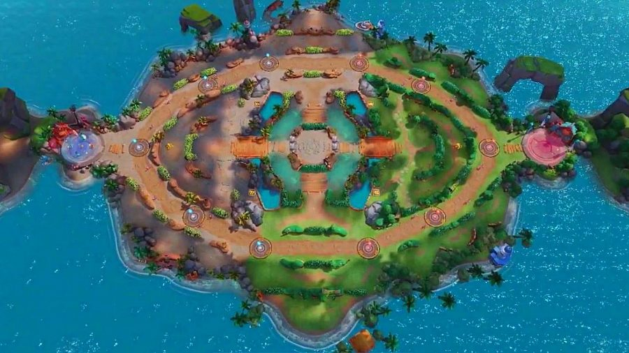 Красочная карта MOBA от Pokemon Unite