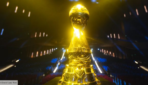 The golden MSI trophy