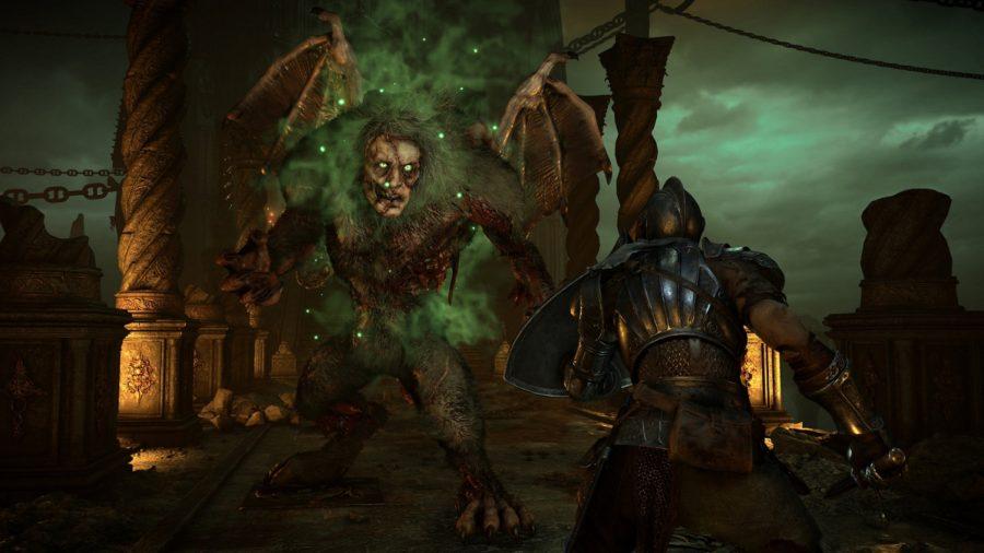 Demon's Souls Maneater boss fight