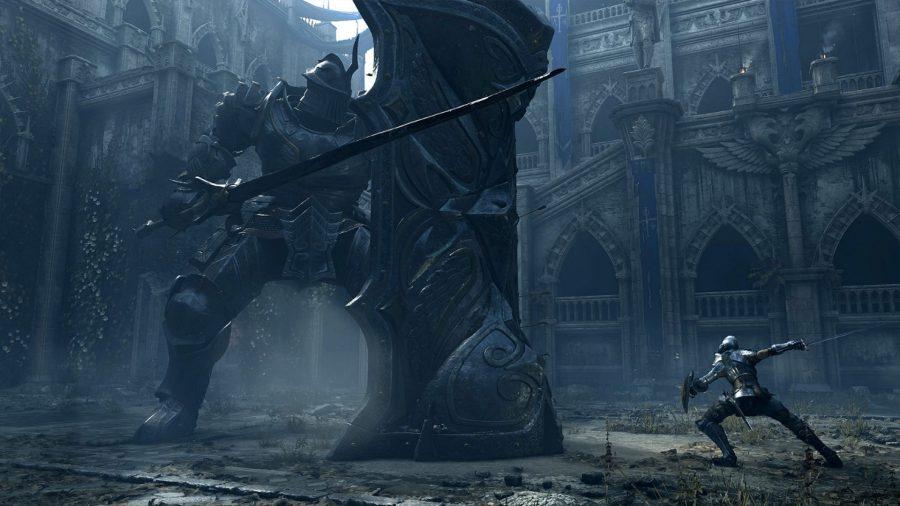Demon's Souls Tower Knight battle