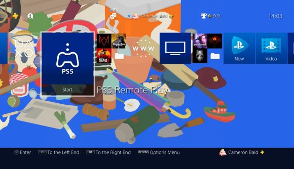 PlayStation 4 remote play option for PS5