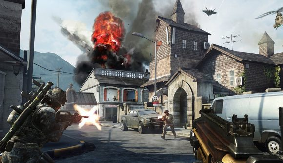 A church explodes in Call of Duty