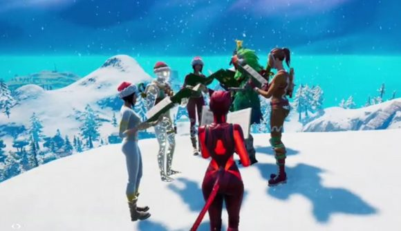 Players gather to sing carols in Fortnite