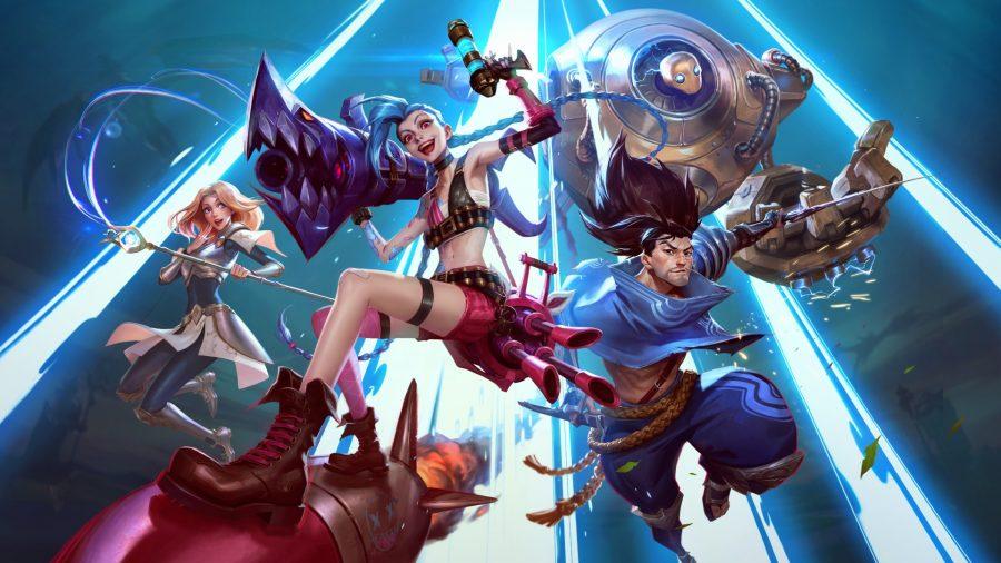 League of Legends: Wild Rift hero riding rocket