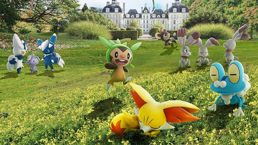 New Pokémon in the wild, including Espurr, Chespin, Froakie, and Fennekin