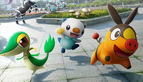 Snivy, Oshawott, and Tepig in Pokémon GO