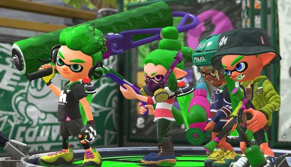 a group of splatoon 2 characters