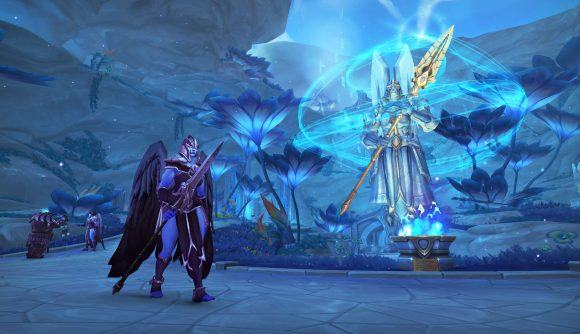 A dark and light angel known as Kyrian from WoW Shadowlands