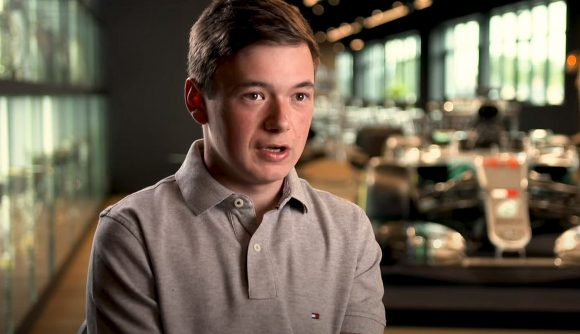 Formula One esports star Brendon Leigh during an interview