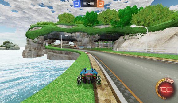 MarioKart recreated in Rocket League