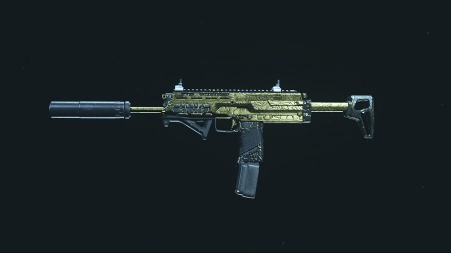A gold MP7 in Warzone