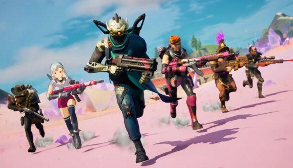 Fortnite's Season 5 skins running into battle