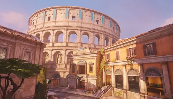 The antique architecture of Rome, stylised for Overwatch 2