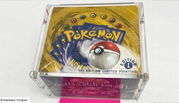 A 1999 1st edition Pokémon Base Set booster box
