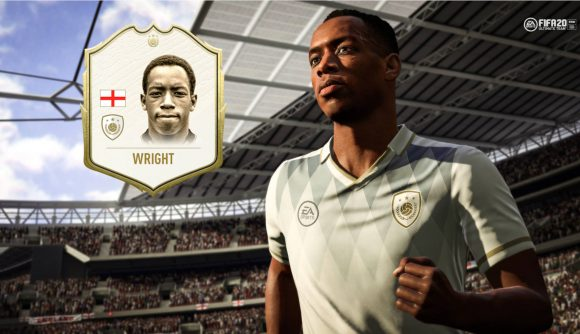Ian Wright wearing a white kit in FIFA 20