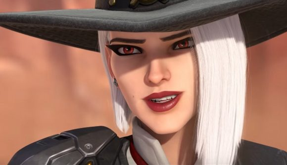 Overwatch's Ashe looking into the horizon