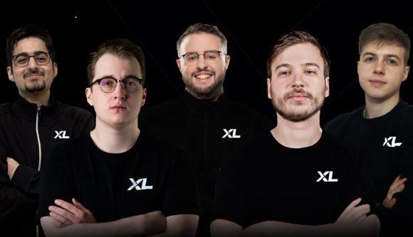 Excel Esports' Valorant roster stand shoulder to shoulder against a black background
