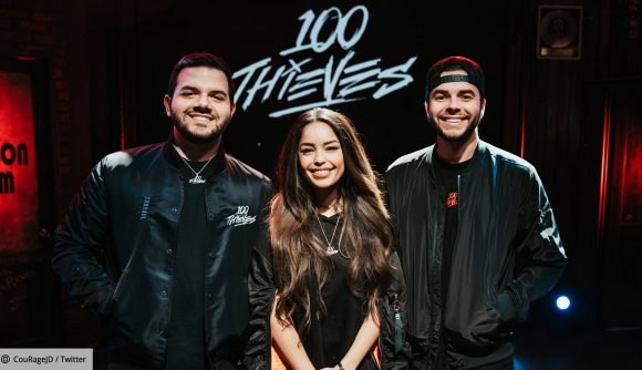 100 Thieves co-owners CouRage, Valkyrae, and Nadeshot