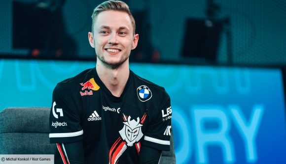 G2 Esports' Rekkles in black, red, and white colours