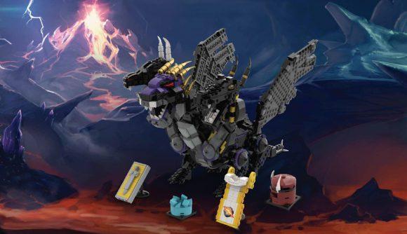 A lego version of the Runescape Black Dragon