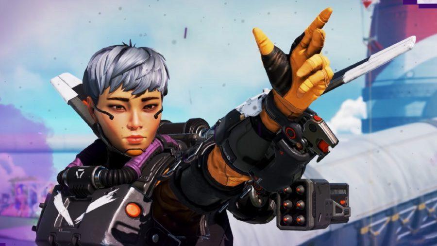 Apex Legends' Valkyrie salutes