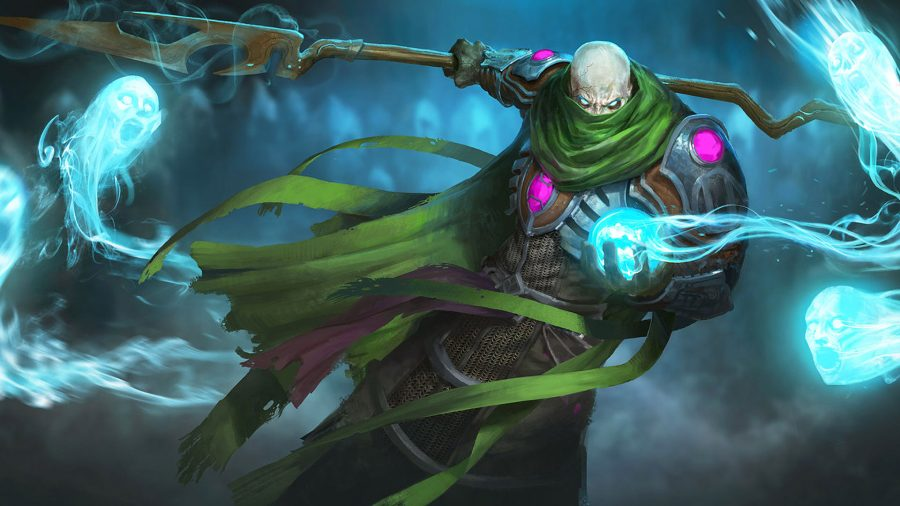 RuneScape's Nomad - a mysterious figure in a green drape