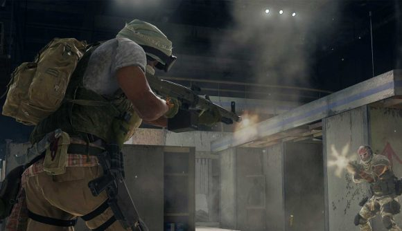 Two Warzone operators engage in a gunfight