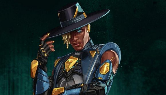 Artwork of Apex Legends' Seer, wearing a blue and gold outfit