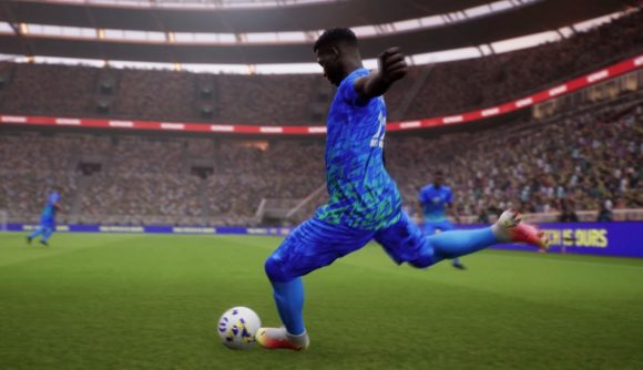 A player wearing an electric