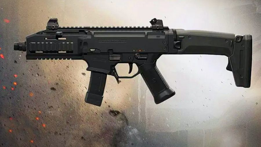 An all-black CX-9 SMG form Call of Duty: Warzone