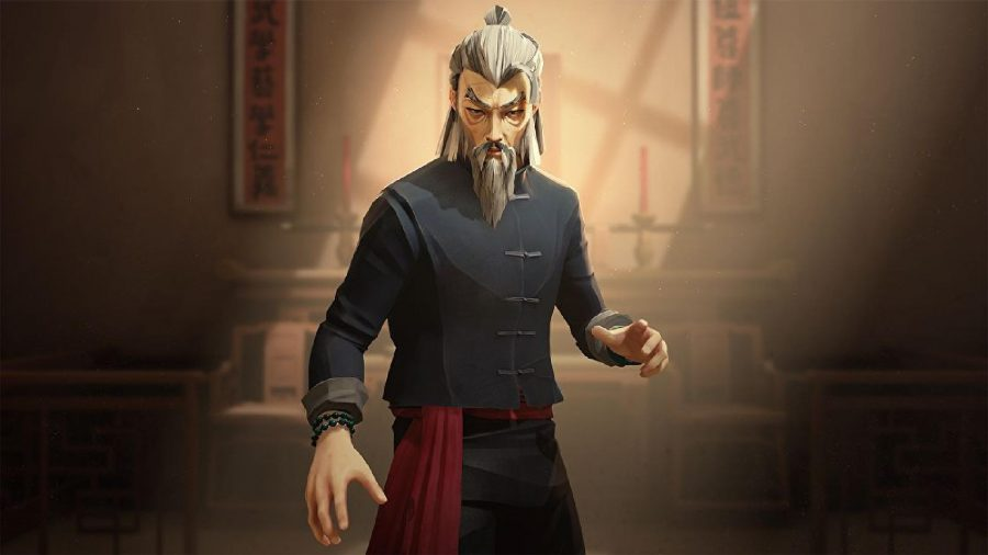 Sifu's main protagonist stands as an old man in the game's key art