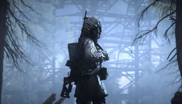 The protagonist of Stalker 2 can be seen staring back at the camera.