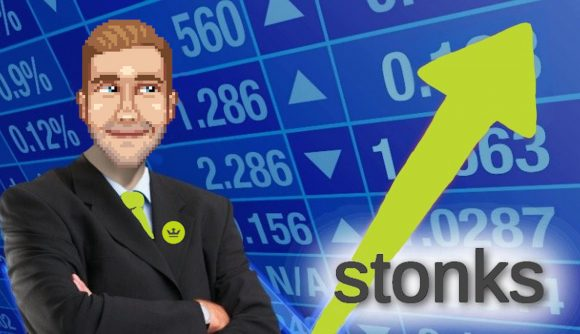 Jamie Hore's face is photoshopped over the stonks man meme