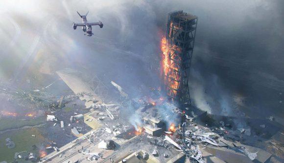 Battlefield 2042 Orbital Change - Battlefield 2042's Orbital map stands as a ruin after the rocket launch.