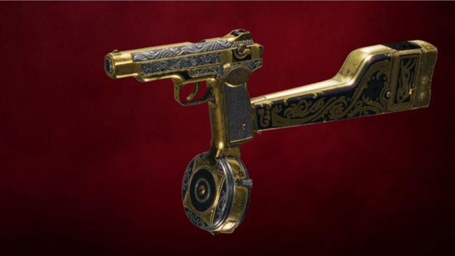 One of Far Cry 6's unique pistols is pictured in the menu.