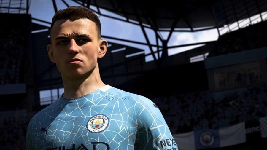 Foden in a Man City blue kit