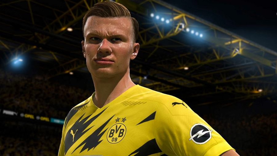 FIFA 22 wonderkids: Haaland stands proud in a yellow jersey