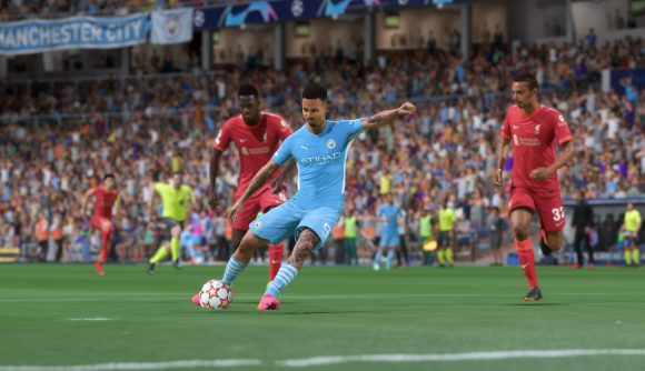FIFA 22 Xbox Series S issues: Gabriel Jesus takes a shot on goal
