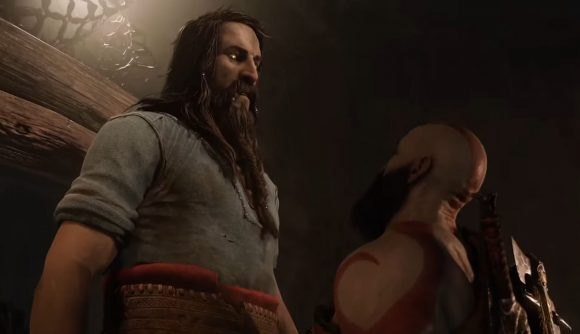 Kratos can be seen standing next to Tyr, the Norse God of War.