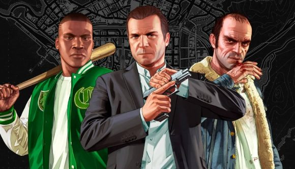 Trevor, Franklin, and Michael can be seen in GTA 5's key art