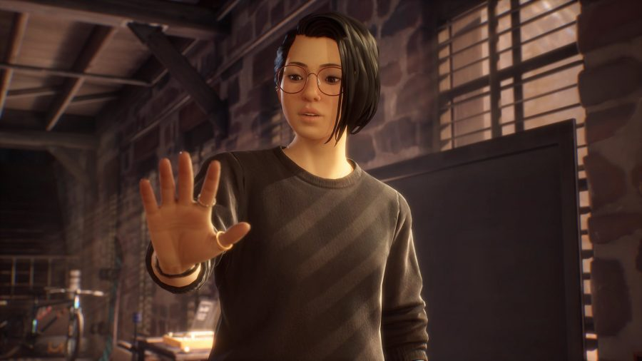 Alex can be seen looking at her hand as she discovers her new power.