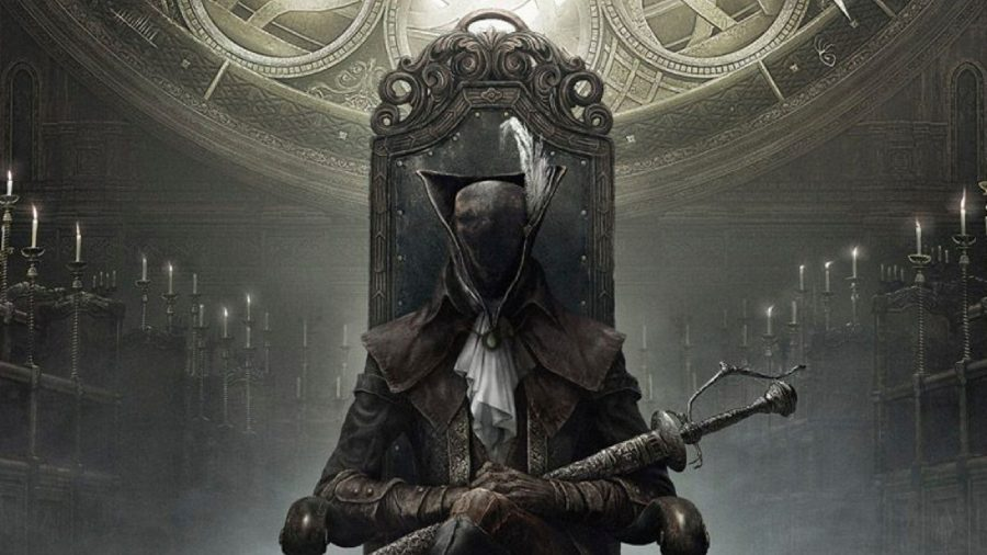 Lady Maria can be seen sitting in the Bloodborne: The Old Hunters key art.
