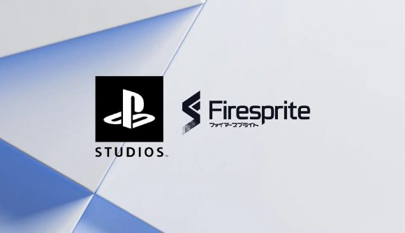 The logo showing Firesprite Games joining PlayStation Studios.