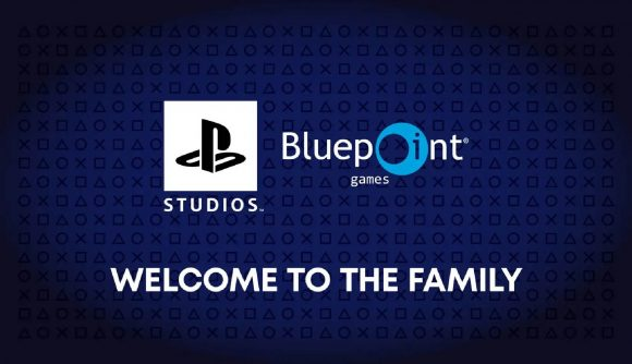 The PlayStation Studios logo is placed alongside the Bluepoint Games logo.
