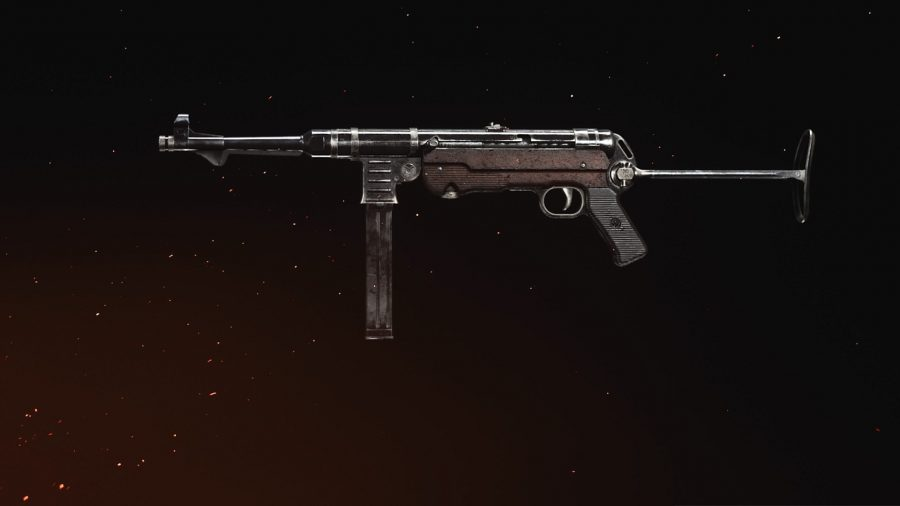 A side profile of an MP40 submachine gun in Call of Duty: Vanguard