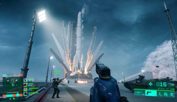 Battlefield 2042 Rocket ride: the rocket launches on Orbital