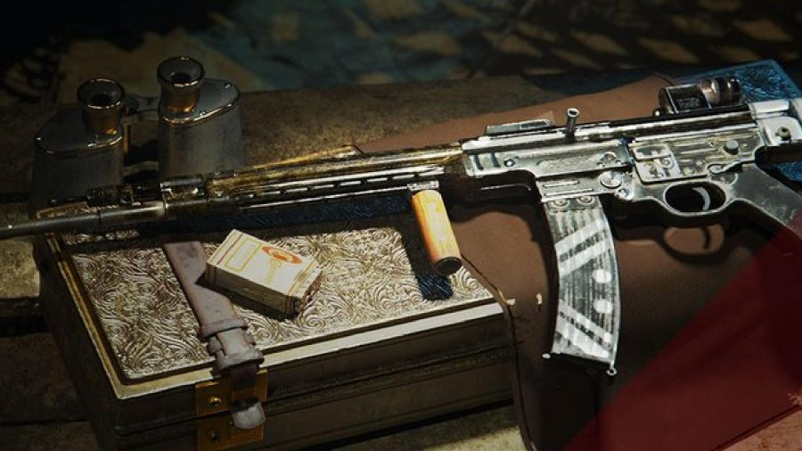 The STG can be seen sitting on a table.
