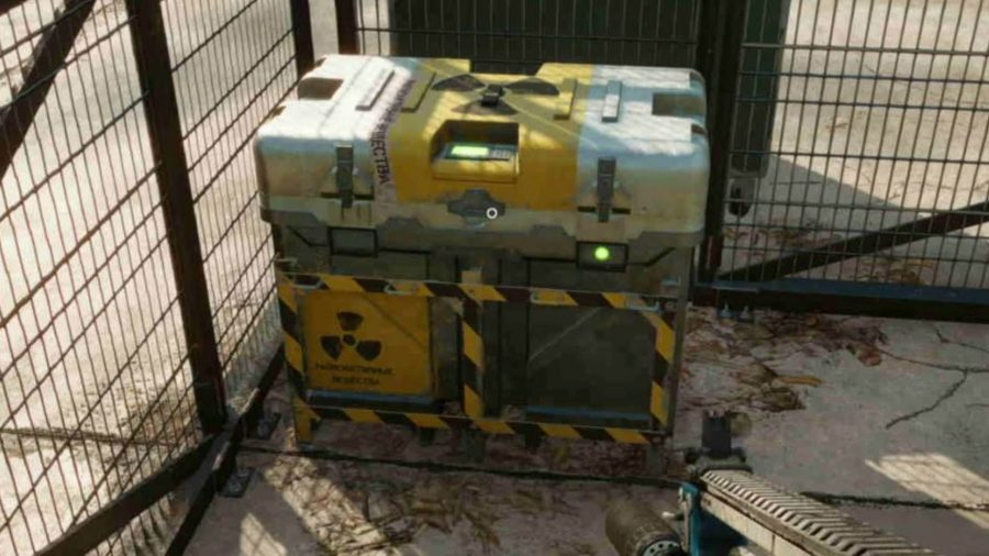 Far Cry 6 Depleted Uranium Locations: a crate of Depleted Uranium sitting behind a fence.